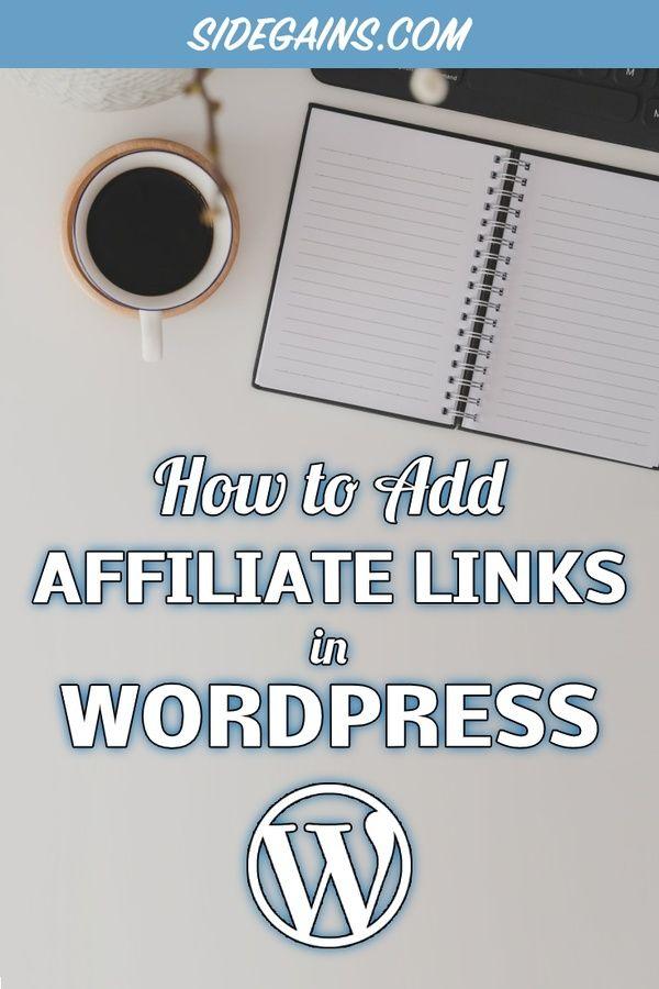WordPress Affiliate Links Image