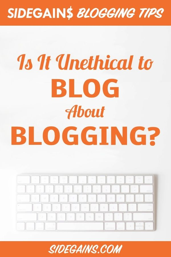 Is Blogging About Blogging Wrong?