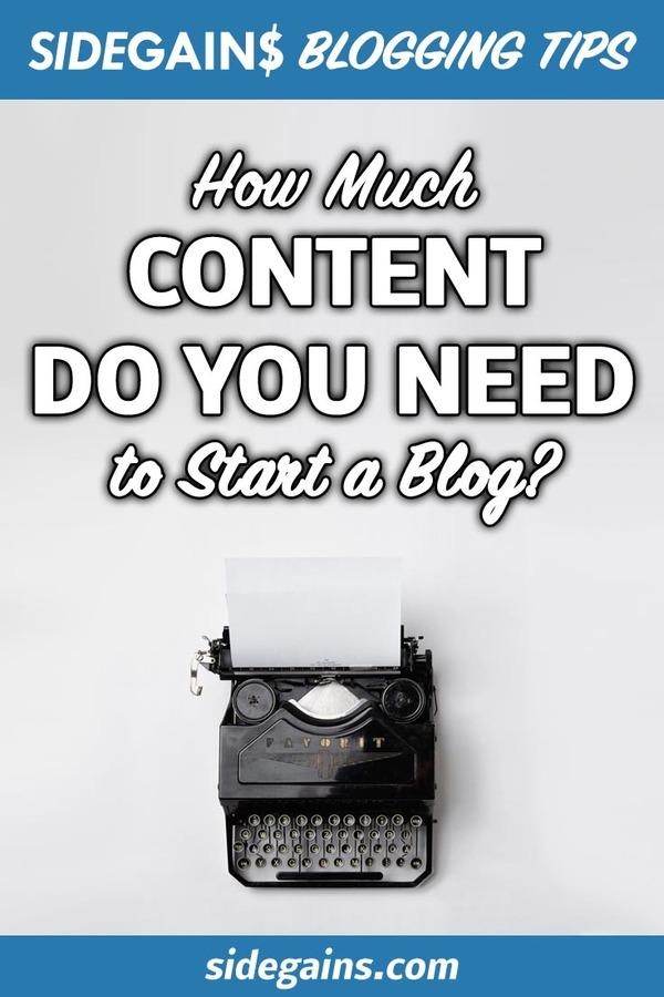 How Much Content to Start Blogging?