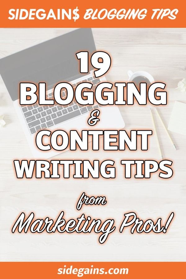 Pinterest Image for Blogging & Content Writing Tips