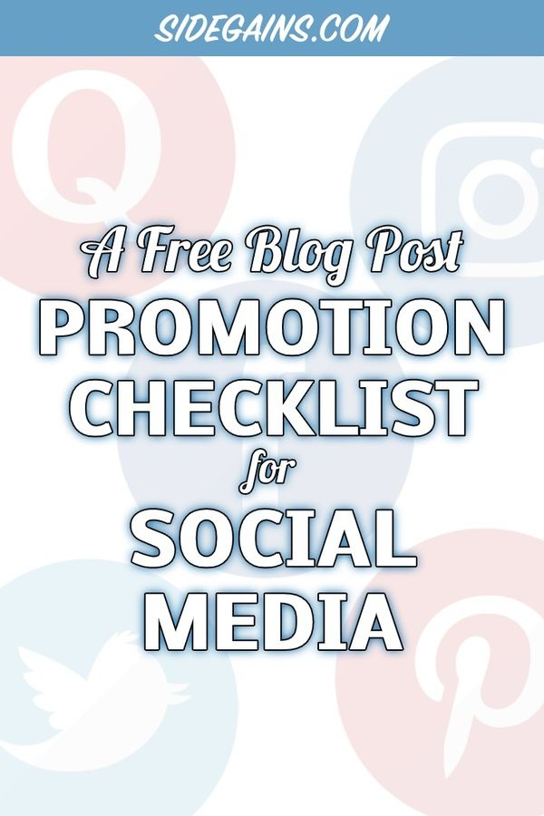 A Checklist for Blog Post Promotion