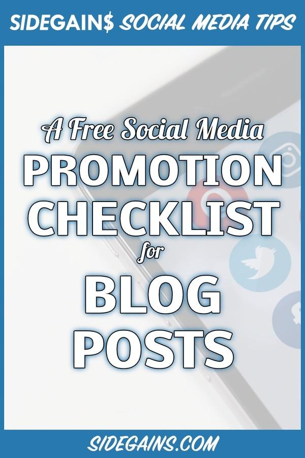 How to Promote Blog Posts Checklist