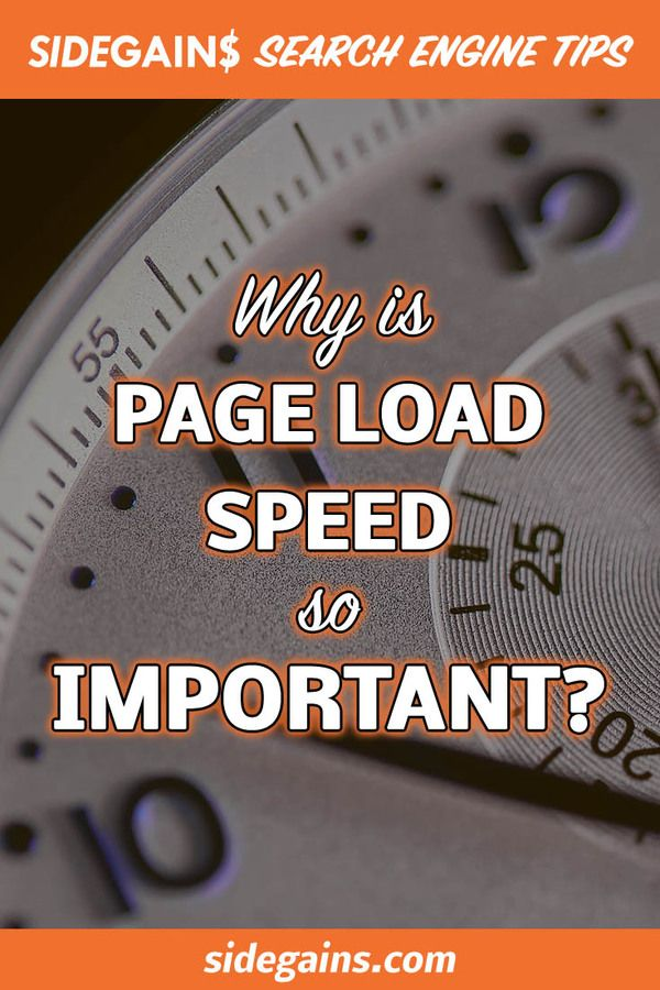 Page Load Speed Times