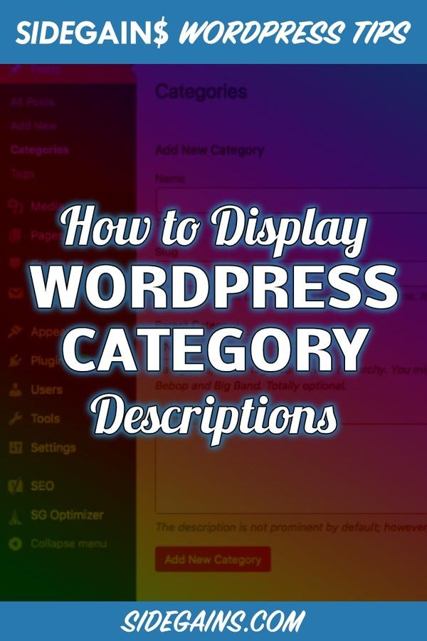 How to Display WordPress Category Descriptions