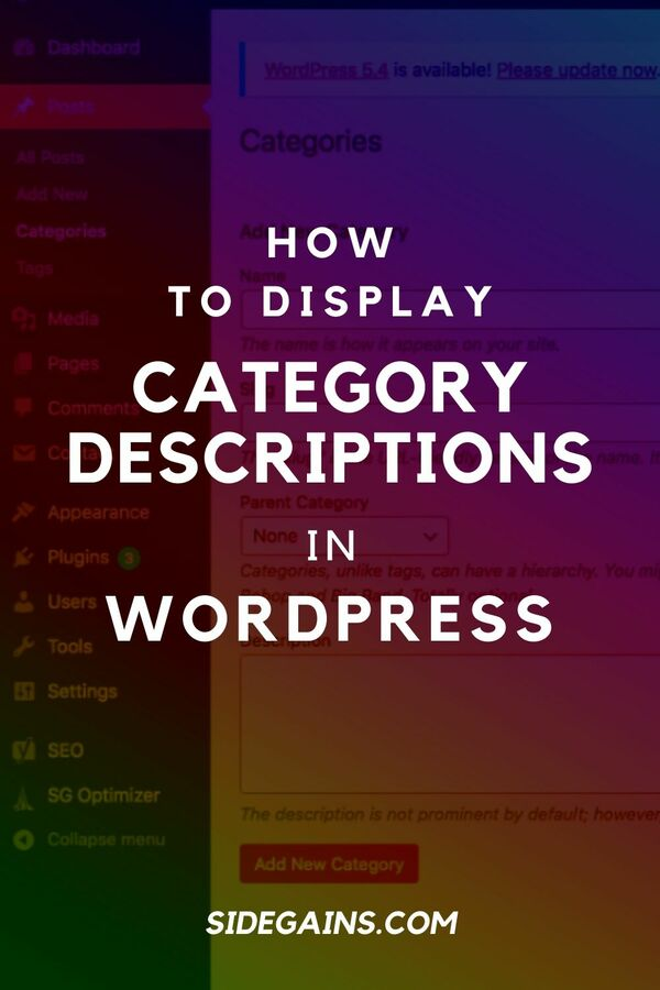 Category Descriptions in WordPress
