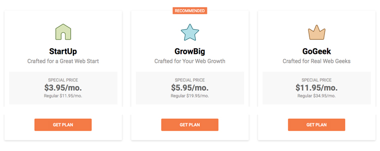 SiteGround Costs for Hosting a Blog