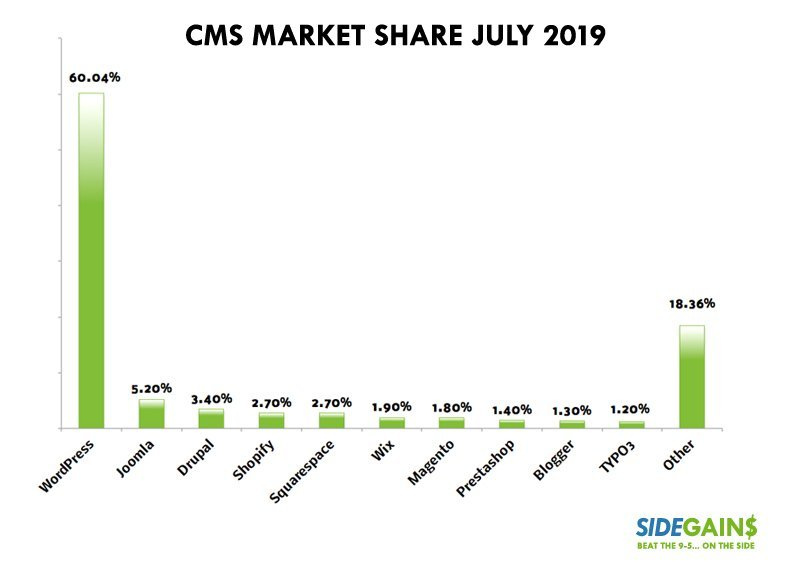 How to Start a Blog: CMS Market Share