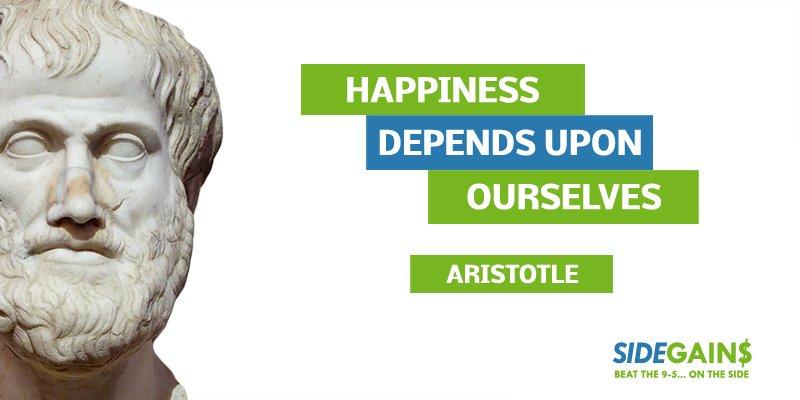 Aristotle Happiness Quote