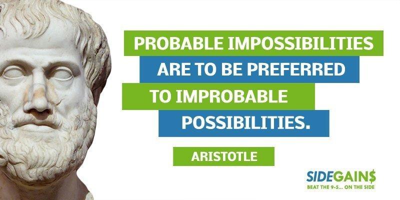 Aristotle Possibilities Quote