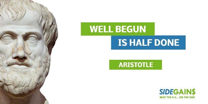 Aristotle Well Begun Quote