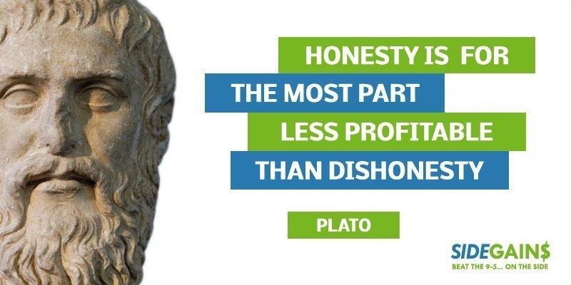 Plato Honesty Quote