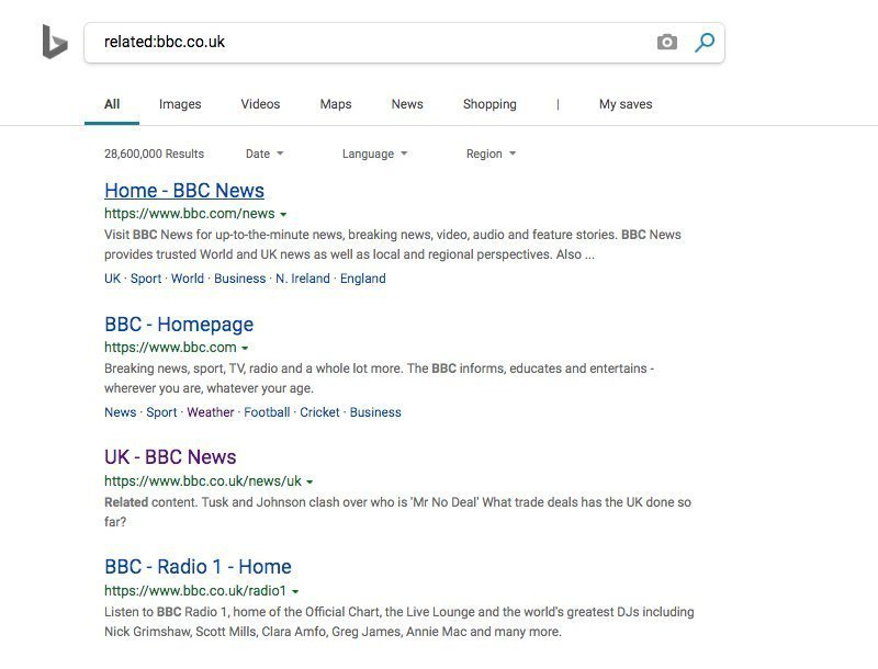 Bing Related Search