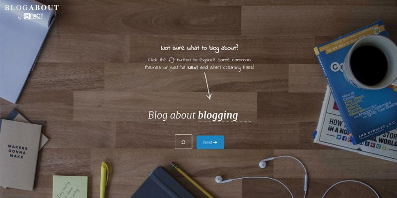 BlogAbout Title Generator by Impact