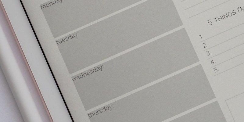 Set Daily Plans