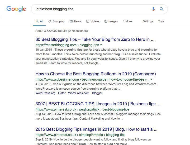 Google Intitle Search