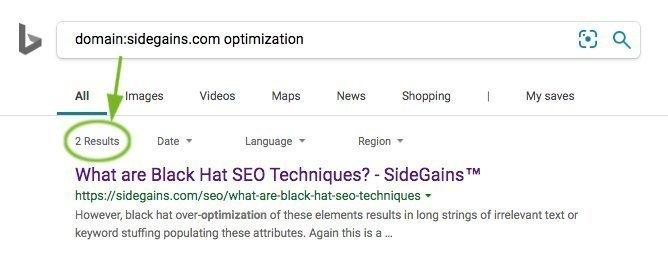 Bing domain: Operator