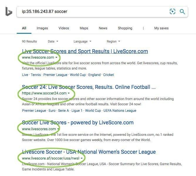 Bing ip: Operator