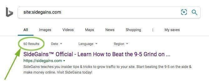 Bing site: Operator