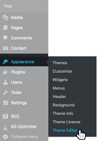WordPress Admin - Appearance Section