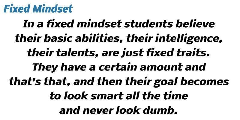 Fixed Mindset Definition