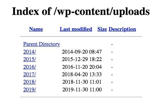 WordPress Directory Listing Example