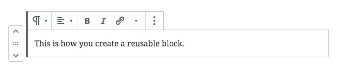 Create Reusable Blocks - Step 2