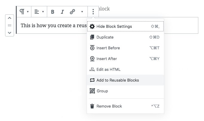 Create Reusable Blocks - Step 3