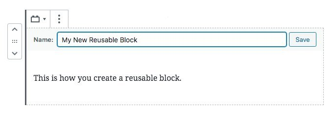 Create Reusable Blocks Step 4