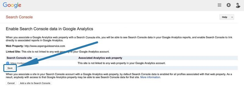Enable Google Search Console in Google Analytics - Step 5