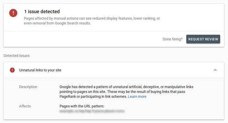 Google Unnatural Link Penalty